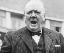 Winston Churchill during the 1945 General Election Campaign