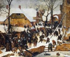Adoration of the Kings in the Snow by Pieter Bruegel the Elder