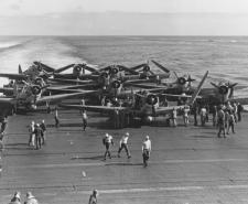 Devastators of VT-6 aboard USS Enterprise, 4 June 1942