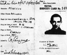 The fictitious Major Martin's naval ID