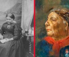 Left: Only known photograph of Mary Seacole , 1873. Right: Mary Jane Seacole (née Grant) by Albert Charles Challen | Public Domain | Wikimedia