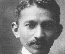 Gandhi photographed as a young man in South Africa in 1909