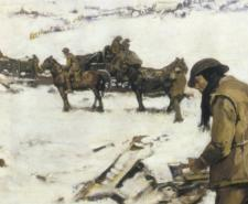 Mametz, Western Front, a winter scene, painting by Frank Crozier | Public Domain