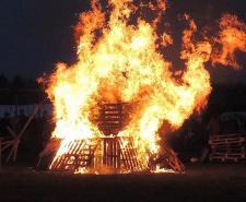 A Beltane bonfire