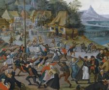 Dance around the maypole, by Pieter Brueghel the Younger