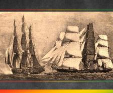 HMS Brisk and Emanuela. Capture of slave ship, also known as Manuela, an 1854   Public Domain   Wikipedia