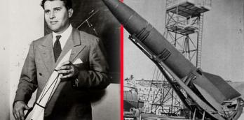 Wernher von Braun and the V2 rocket