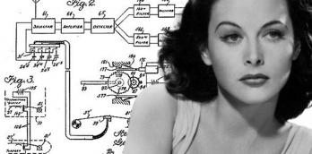 Heddy Lamarr and her plans for her secret communications system that laid the groundwork for later wireless communications like WiFI