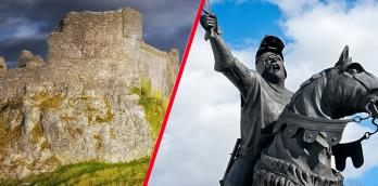 Owain Glyndwr and 800 men attacked Carreg Cennen Castle in July 1403