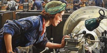 Ruby Loftus Screwing a Breech Ring by Laura Knight | Wikimedia | Public Domain