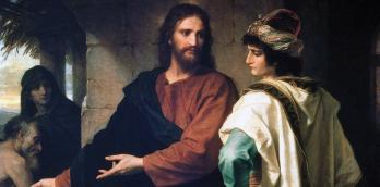 Jesus and the rich young man by Heinrich Hofmann