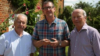 An interview with Stephen Taylor, pictured middle, host of WW2 Treasure Hunters.