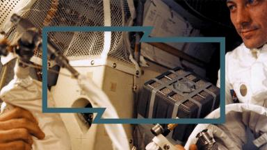 A NASA picture shows astronaut Fred Haise working inside the Apollo 13 lunar module after the explosion of the ship's oxygen tanks on April 13, 1970 (Getty).