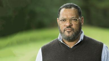 Laurence Fishburne, pictured, plays Roots author Alex Huxley.