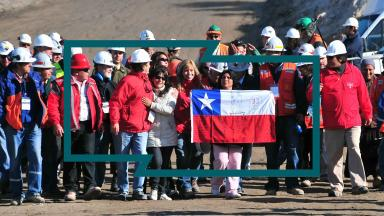 Celebrations as Plan B, the rescue effort to save a group Chilean miners, makes contact.