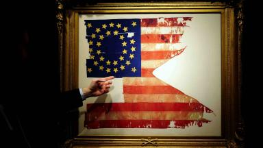 """The only US flag not captured or lost during George Armstrong Custer's """"Last Stand"""" at the Battle of Little Big Horn"""