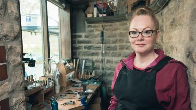 Forged in Britain's Grace Horne in her studio in Sheffield