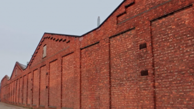 The factory wall in Crewe