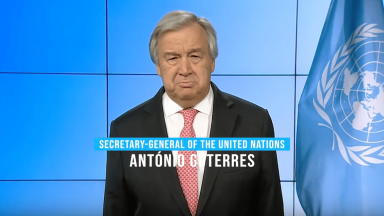A message from Antonio Guterres, Secretary-General of UN
