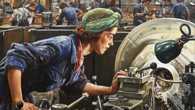 Ruby Loftus Screwing a Breech Ring by Laura Knight | Wikimedia | Public Domain