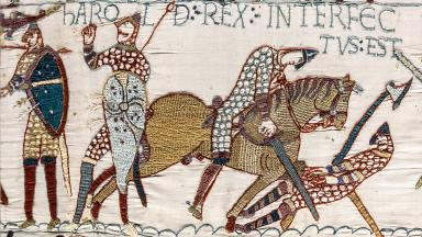 Harold Rex Interfectus Est | Bayeaux Tapestry | Public Domain