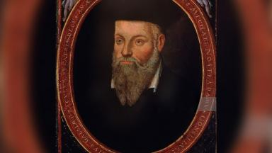 The Portrait of Michel de Nostredame (Nostradamus), a French Renaissance Medicine & Astrologer, painted by his son César de Nostredame (1553-1630?)