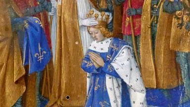 The coronation of Charles VI