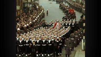 Winston Churchill's funeral in 1965