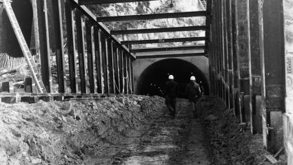 The tunnel connected the two ends of an underwater tunnel linking Great Britain with the European mainland