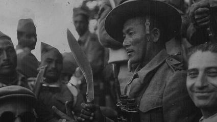 Gurkhas pictured during World War 2