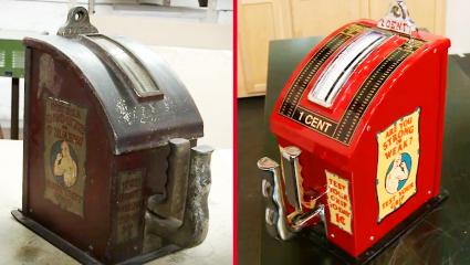 a 1930s penny arcade strength tester