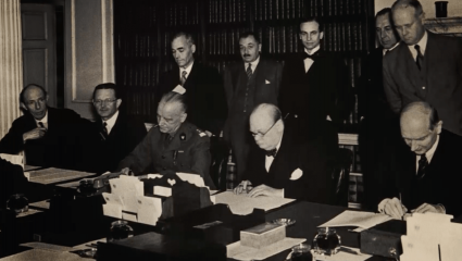 Winston Churchill at work