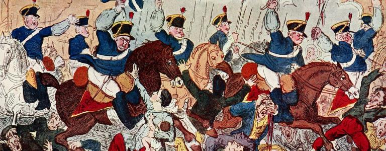 The Massacre of Peterloo or Britons Strike Home by George Cruikshank