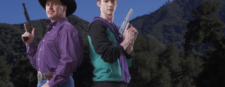 Kelly Blanchard and Denny Chapman from History's original series, Top Shot.
