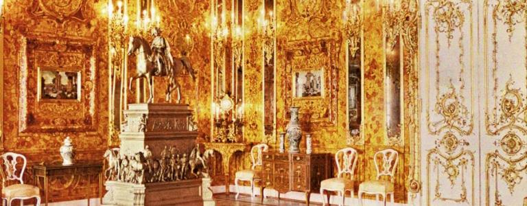 The reconstructed Amber Room