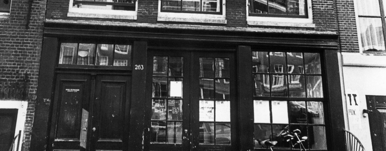 Photo shows the house where Anne Frank lived in Amsterdam and where she hid with her parents to escape from Nazis between June 1942 and August 4, 1944.