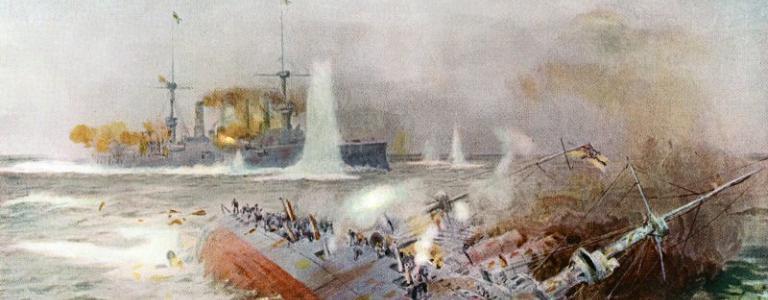 Battle of Falklands 1914, William Lionel Wyllie,