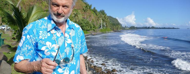 Actor Sam Neill presents a voyage following in the wake of one of Britain's greatest explorers