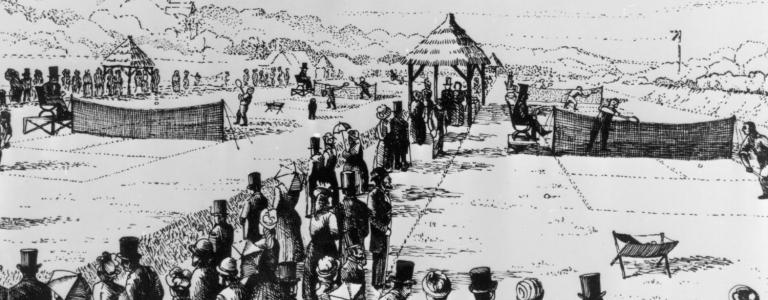 The first Wimbledon took place in 1877