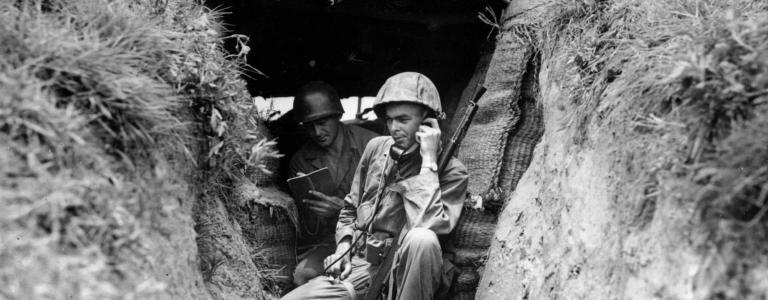 An American soldier from South Carolina reports from a field post 'somewhere in Korea'.