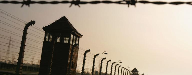 An image of Auschwitz, where the Great Sonderkommando Revolt of 1944 took place.