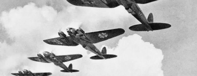 Heinkel He 111 bombers during the Battle of Britain