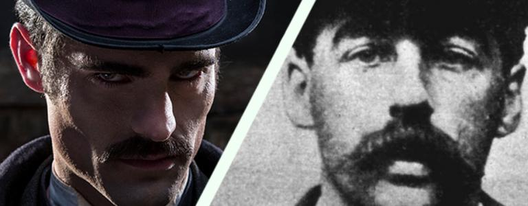 A mock-up of Jack the Ripper alongside the a HH Holmes mugshot, but were they the same person?