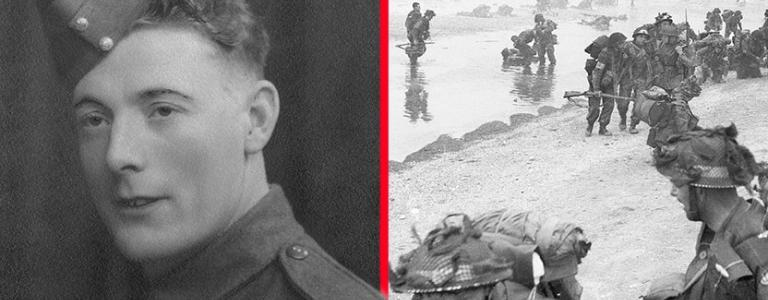 Left: Stanley Hollis, right: British forces on D-Day