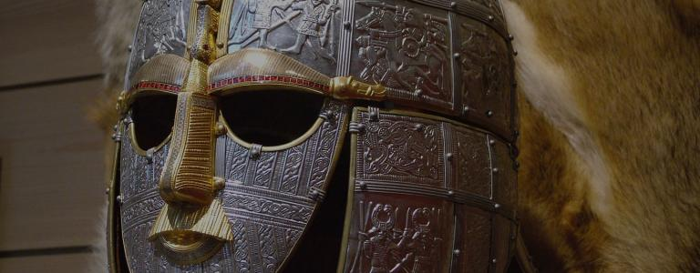 Replica of the helmet from the Sutton Hoo ship-burial by Ziko-C   Wikimedia