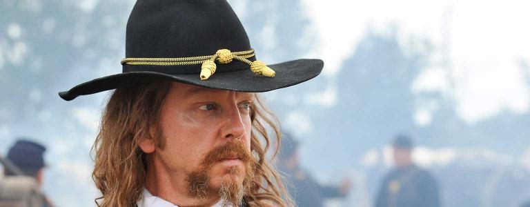 General Custer as depicted in Robert Redford's American West