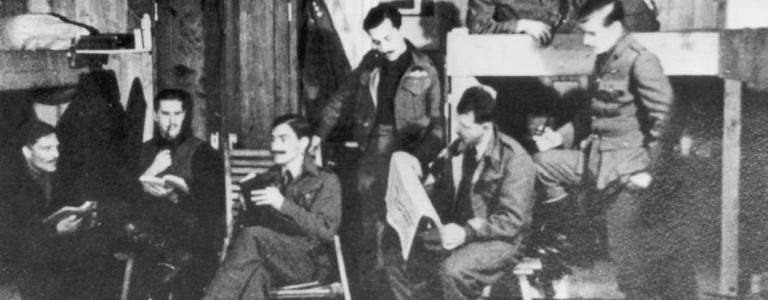 Captured RAF pilots in Stalag Luft III