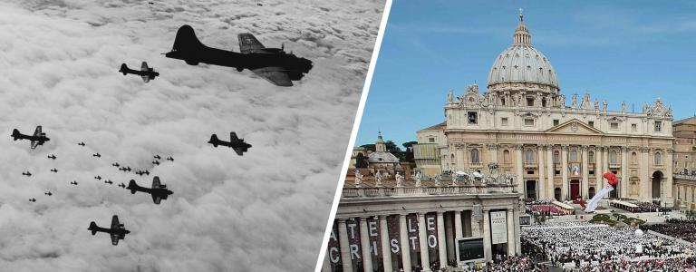 On November the 5th 1943 the neutral zone of Vatican City was bombed.