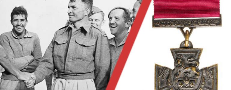 Charles Hazlitt Upham (pictured middle) the World War Two hero was, and remains, the only combatant to receive two Victoria Crosses.