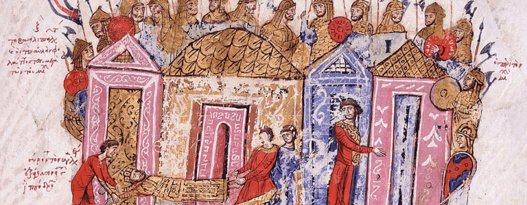 The Varangian Guards, an illumination from the Skylitzis Chronicle